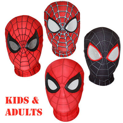 Adults Kids Spider-Man:Far From Home Black Raimi Red Full Face Mask Hood Cosplay Child Spider Man Mask