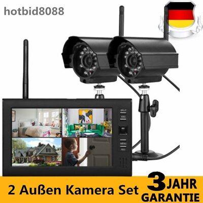 """7"""" LCD DVR Monitor 2 Außen Kamera Set Funk  Videoüberwachung Überwachungskamera"""