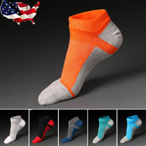 5 Pairs Men five finger toe Socks Cotton Ankle Casual Sports