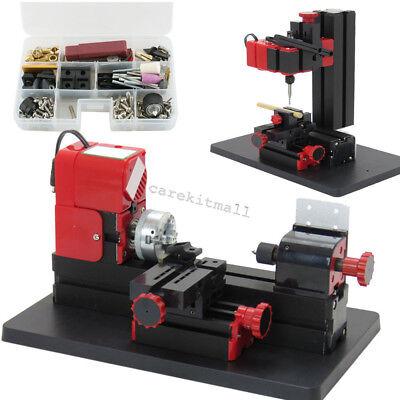 Usa 6in1 Lathe Wood Diy Machine Tool Kit Jigsaw Milling Lathe Drilling Multi-use