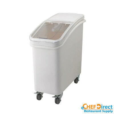 Commercial White Ingredient Bin With Casters - 21 Gallon