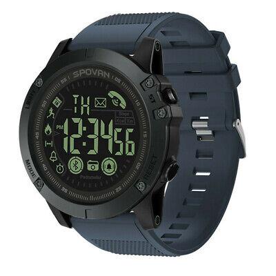 Blue Mens Waterproof Smart Watch Sport Military Grade Super Tough Outdoor Hot