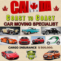 MOVING CARS SAFELY ACROSS CANADA IS OUR SPECIALITY