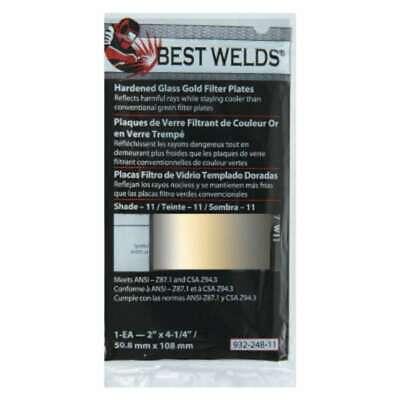 Best Welds Hardened Glass Gold Filter Plates 606230596247