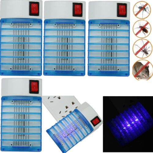 4XElectric LED Socket Mosquito Fly Bug Insect ...