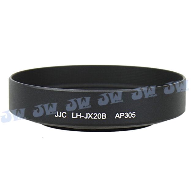 JJC Black Lens Hood & Filter Adapter For Fujifilm Finepix X30 X20 X10 as LH-X10