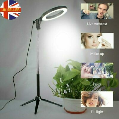 "6"" LED Ring Light with Stand for Youtube Tiktok Makeup Video Live Phone Selfie"
