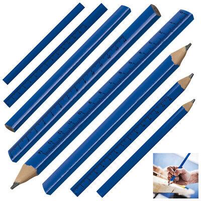 25cm Farbe lackiert blau 10 Zimmermannsbleistifte mit Gravur Länge