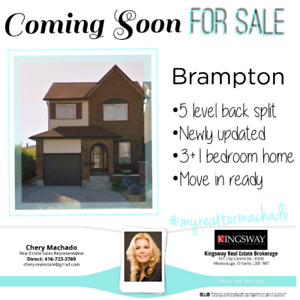 Coming Soon For Sale ~Brampton