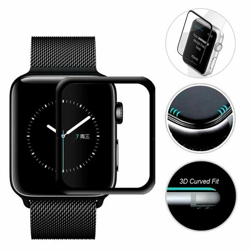 For Apple Watch 6 5 4 3 FULL COVER Tempered Glass Screen Protector 38 42 40 44mm
