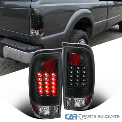 For Ford 97-03 F150 F250 F350 Styleside Pickup Black LED Tail Lights Brake Lamps - Ford F250 Pickup Tail Light