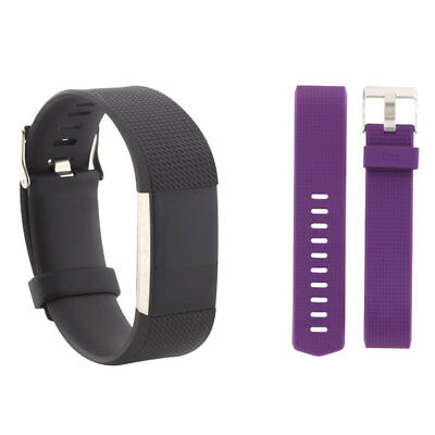 FitBit Charge 2 Small FB407SBKS with Small Plum Band