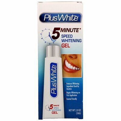 Plus White 5 Minute Speed Teeth Whitening Gel 2oz 56g - UK Seller