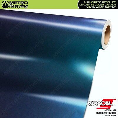 Turquoise Vinyl - ORACAL 970RA-989 GLOSS TURQUOISE LAVENDER Vinyl Vehicle Car Wrap Decal Film Roll