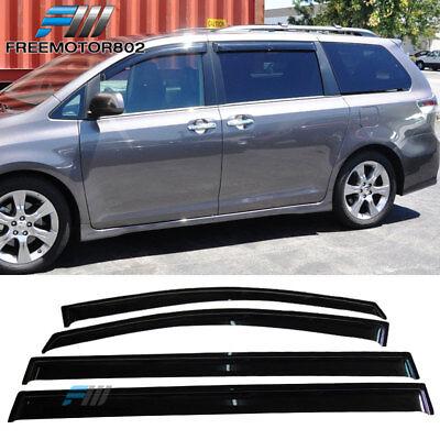 Fits 11-17 Toyota Sienna Slim Style Acrylic Window Visors 4Pc Set