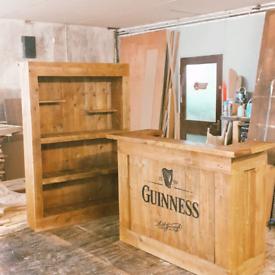 Rustic home bar sets.