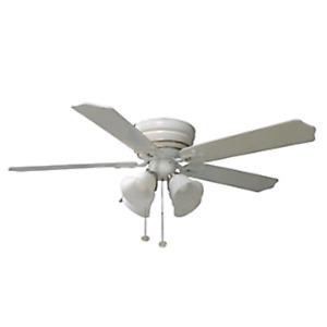 White 3-light Hampton Bay ceiling fan