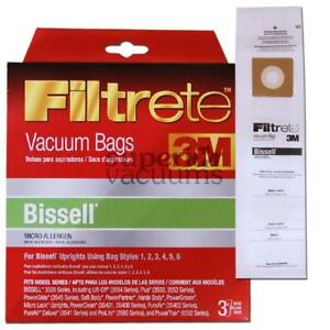 Upright Universal Fit Paper Bag Style 1 2 3 4 5 6 Microlined 3 Pack 3M 530 3522 3545 3550 6592
