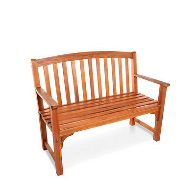 BillyOh Windsor 2 Seater High Back Hardwood Acacia Outdoor Garden Wooden Bench