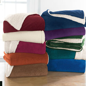 Sherpa Blanket-Many Colors-Brand New Stock