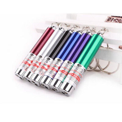 Fashion 2 In-1 Laser Lazer Pointer Pen Led Torch Pets Cat Dog Toy Bra Ucg