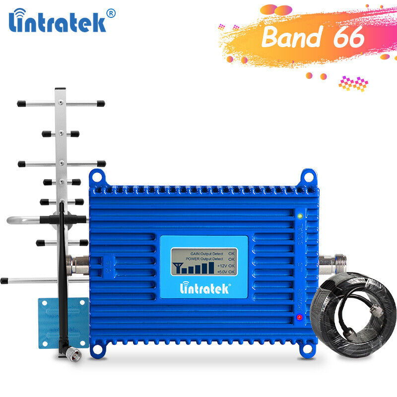 4G LTE Band 66 Band 4 1700/2100Mhz Signal Repeater Network Booster AT&T Verizon