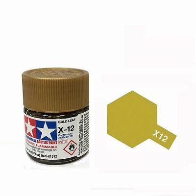 TAMIYA X12 COLORE ACRILICO ORO GOLD LEAF MINI 10 ML ART 81512