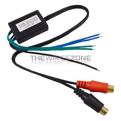 Speaker to Gold Female RCA High to Low Line Output Converter for Car Audio