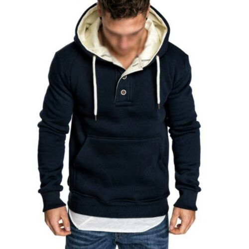 Men/'s Striped Pleated Long sleeve Hooded Hoodies Pullover Tops Plain Occident B