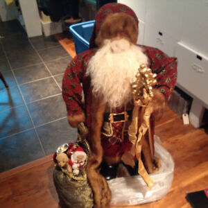 Primitive Santa - stands slightmore than than 3 feet high
