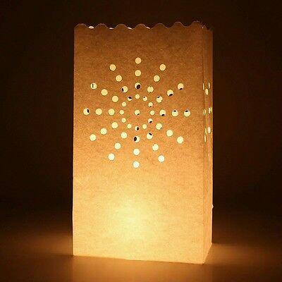 30pz Carta Artigianale Borse Sacchetti Candele Diffusione Luce Porta candela