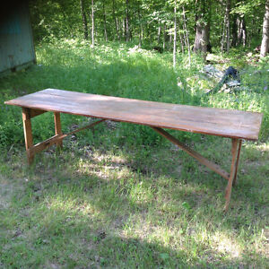 8 Foot Folding Pine Table