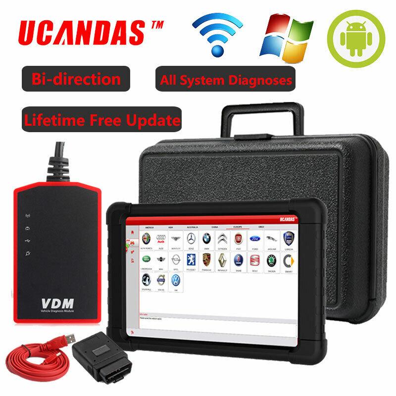 UCANDAS VDM Wifi OBD2 Scanner All System Bleeding EPB ABS Tablet Diagnostic Tool
