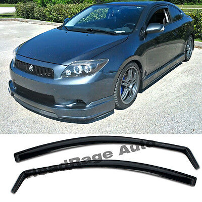For 05-10 Scion TC Gen1 JDM Side Door Window Visors Rain Guard In-Channel Vent