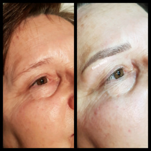 Microblading with follow up $350