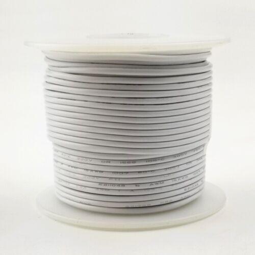 24 AWG Gauge Solid WHITE 300 Volt, UL1007 PVC Hook Up Wire 100ft Roll 300V