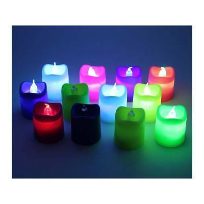 5 X VELA LED MULTICOLOR DECORATIVA IDEAL DECORACION VELAS ORIGINAL