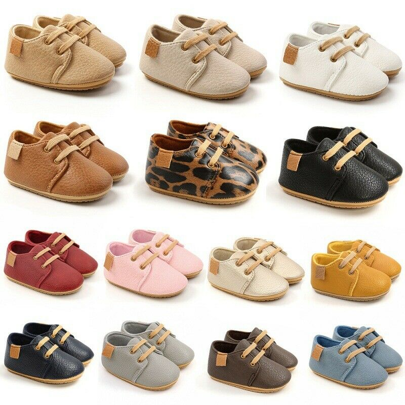 Newborn Baby  Lace-up Non-slip Soft Shoes Boys Girls Toddler Shoes 0-18 Months