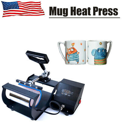 Us Mug Heat Press Transfer Machine 11 Oz Coffee Cup Sublimation Digital Display