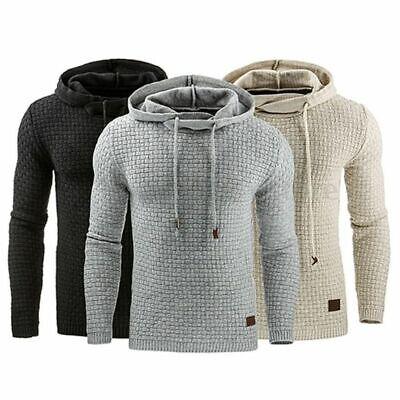 Men Premium Athletic Soft Sherpa Lined Fleece UP Hoodie Coat Sweater Jacket -