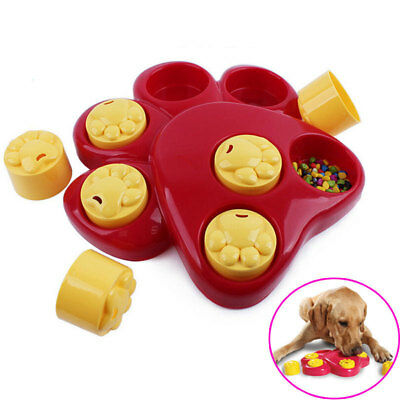 Pet Dog Bowl with Cover Feeder Slow Eating Dish Training Anti Choke Gluttony