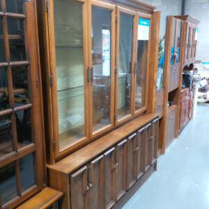 Antique style wooden hutch cabinet in mint condition