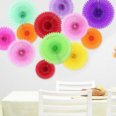 Hanging Paper Flower Cut-out Fans Pinwheels Tissue Paper Craft Party - Flower Cut Outs