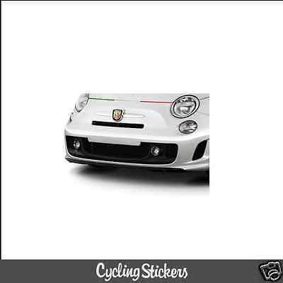Abarth 500 Italian Flag Bonnet/Front Bumper Vinyl Decal | Sticker | Fiat
