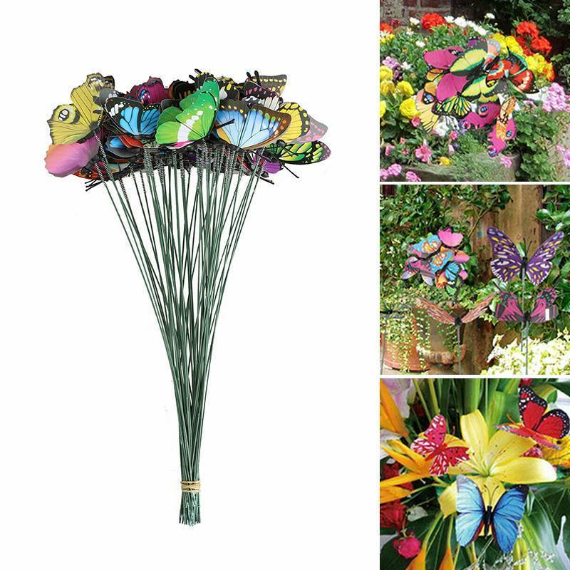 50* Butterfly Stakes Outdoor Yard Planter Flower Pot Bed Gar