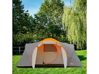 6 PERSON TENT * UNIQUE HINGED DOOR + PORCH * Carry Bag, Waterproof Flysheet & Ground Sheet Included