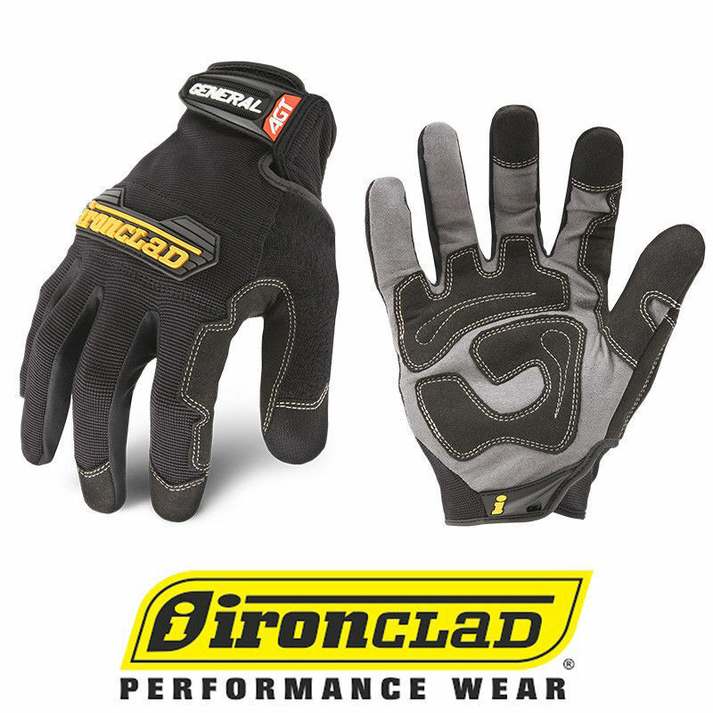 IronClad GUG General Utility Black Work Gloves - Select Size
