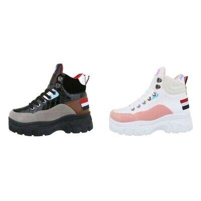Sneakers scarpe donna scarpette da ginnastica trekking scamosciate zeppa bassa