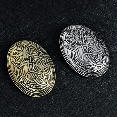(Norse Nordic Viking Amulet Brooch Pin Shirt Lapel Charms Men's Fashion Jewelry)