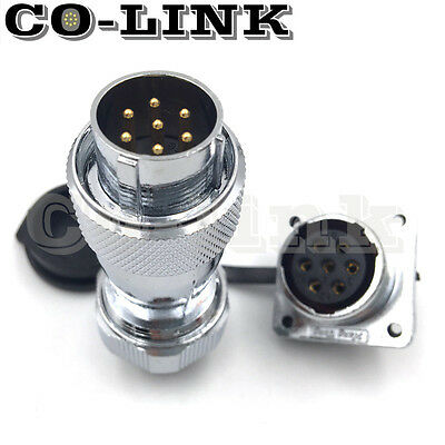 Ws20 7pin Waterproof Connector 10a 500v High Voltage Automotive Power Connector